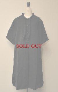 Cristaseya クリスタセヤ  Edition#04 #04EP Maxi shirt with padded collar  パッドカラー マキシシャツ col.BLACK