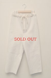 toogood トゥーグッド THE SCULPTOR TROUSER  スカルプターパンツ  col.WHITE