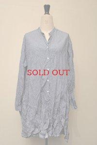 CASEY CASEY ケーシーケーシー 08FC56 ドットロングシャツ col.BLUE