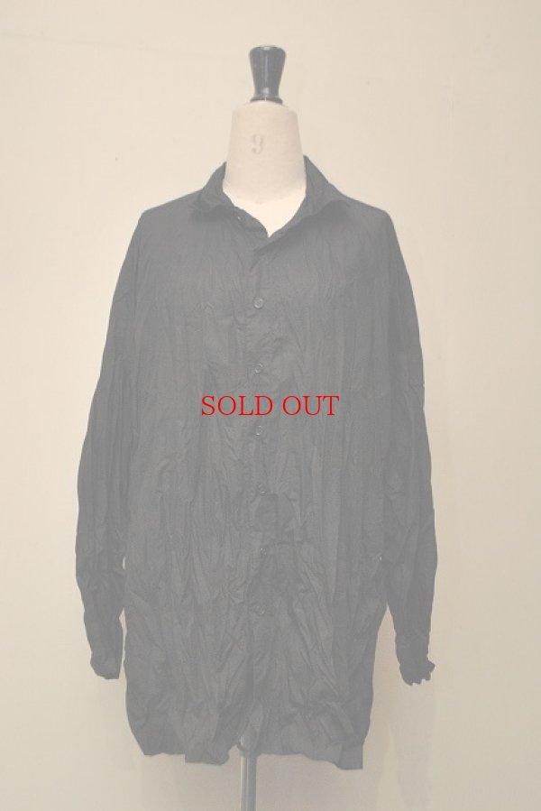 画像1: CASEY CASEY ケーシーケーシー 08HC68 オーバーサイズシャツ col.BLACK