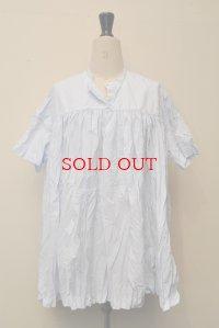 CASEY CASEY ケーシーケーシー 08FC63 タックオーバーサイズシャツ col.SKY