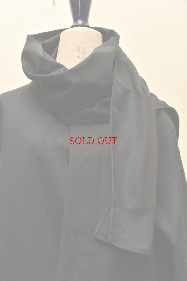 画像2:  Cristaseya  #01EN-S Maxi overcoat with scarf  col.black