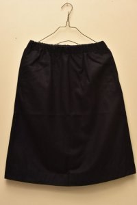 n100 Wool Flannel  / New Elastic Waist Skirt  col.navy