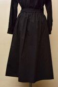 画像3: Cristaseya   #09EF-B JAPANESE COTTON PAREO SKIRT  col.BLACK (3)