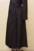 画像2: Cristaseya   #09EF-B JAPANESE COTTON PAREO SKIRT  col.BLACK (2)