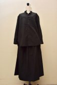 画像6: Cristaseya   #09EF-B JAPANESE COTTON PAREO SKIRT  col.BLACK (6)