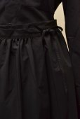 画像4: Cristaseya   #09EF-B JAPANESE COTTON PAREO SKIRT  col.BLACK (4)
