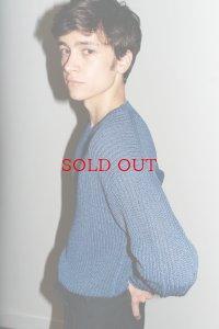 Cristaseya クリスタセヤ  #02H-M paper sweater 2yearns ペーパーセーター  col.Blue
