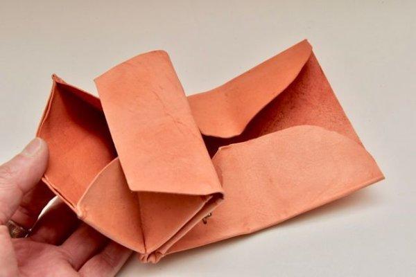 画像3: m.a+   small wallet  W7-KAO 1.2   col, TIGERLILY RED