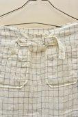 画像6: n100/エヌワンハンドレッド Irish linen Windowpane/ Button Sailor Skirt   col.white×blue