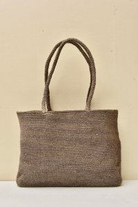 sophie digard MEDIUM WAXED LINEN BAG  col.NOISETTE