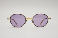 "kearny  "" charlie - sunglass ""    col. yellow × gold × violet lens (EXCLUSIVE)"