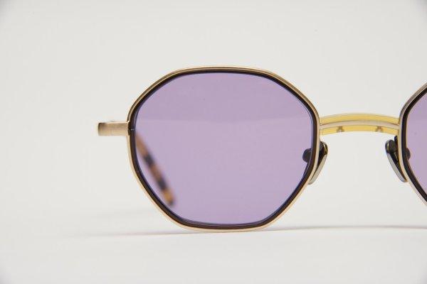 """画像2: kearny  """" charlie - sunglass """"    col. yellow × gold × violet lens (EXCLUSIVE)"""