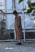 画像2: Cristaseya   #02EF-K LINEN TUNIC WITH PADDED COLLAR   col.OCHER (2)