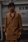 画像1: Cristaseya   #08EF-T JAPANESE COTTON MAO SHIRT WITH PADDED COLLAR  col.TERRE (1)