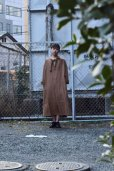 画像1: Cristaseya   #02EF-K LINEN TUNIC WITH PADDED COLLAR   col.OCHER (1)
