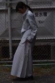 画像2: Cristaseya   #03SP-LGS  MAXI SKIRT WITH POCKETS   col. LARGE GREEN STRIPES (2)