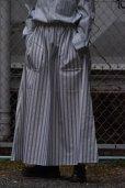 画像1: Cristaseya   #03SP-LGS  MAXI SKIRT WITH POCKETS   col. LARGE GREEN STRIPES (1)