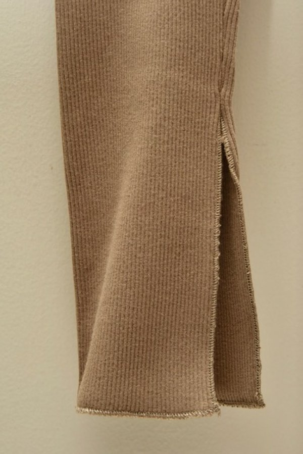 画像3: AURALEE HIGH GAUGE RIB SLIT TIGHTS 【A00T01TE】col.KHAKI BEIGE