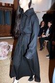 画像2: Cristaseya  #03EE JAPANESE DUBLE WOOL COAT DRESS WITH MAXI COLLAR  col.BLACK (2)