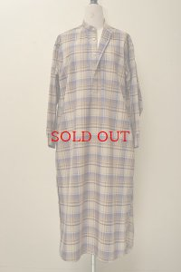 AURALEE SUPER LIGHT WOOL CHECK ONE-PIECE 【A8AD02LC】col.BEIGE CHECK