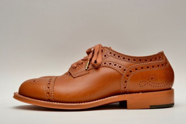 画像1: foot the coacher レディース MENDELL( LEATHER SOLE) col.LIGHT BROWN