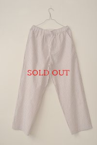 Cristaseya  #09TW-WB  STRIPED PYJAMA  PANTS II  col. WOOD BROWN / BLUE STRIPES