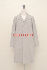 "OVERCOAT "" Raglan Sleeve Overcoat with Soutien Collar in Hardcover Check "" col.Multi"
