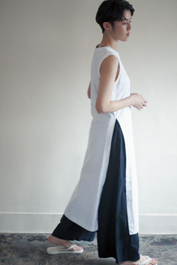 画像2: humoresque   long slit dress  col.white