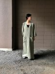 画像9: Cristaseya   #05EF-K LINEN SUMMER DRESS   col.KAKI