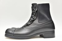 BEAUTIFUL SHOES  BUTTONED SIDEGORE BOOTS    col.BLACK