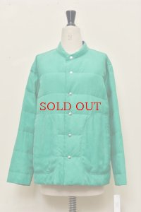 "Cale  ""WASHABLE SILK REVERSIBLE DOWN""  col.GREEN/navy"