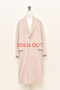 "AURALEE   ""CASHMERE WOOL MOSSER CHESTERFIELD COAT""  A9AC02MC  col.LIGHT BROWN"