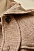 "画像3:  AURALEE   ""WOOL SILK MELTON LONG DUFFLE COAT""  A9AC04SN  col.LIGHT BROWN"