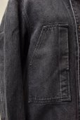 "画像7: AURALEE ""WASHED HAED TWIST DENIM BLOUZON""【A20SB09DM】col. WASHED BLACK"