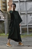 "画像11: Cristaseya  #07DA-C-FG ""LIGHT COTTON OVERSIZED CAFTAN""  col.FOREST GREEN"