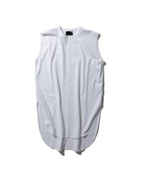 "ATON    ""SUVIN AIR SPINNING ROUND HEM TANK TOP""  col. WHITE"