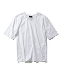 "ATON    ""SUVIN 60/2 PERFECT SHORT T-SHIRT""  col. WHITE"