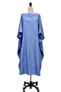 "Cristaseya  #07DA-C-LB ""LIGHT COTTON OVERSIZED CAFTAN""  col.LIGHT BLUE"
