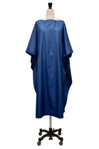 "Cristaseya  #07DA-C-BL ""LIGHT COTTON OVERSIZED CAFTAN""  col.BLUE"