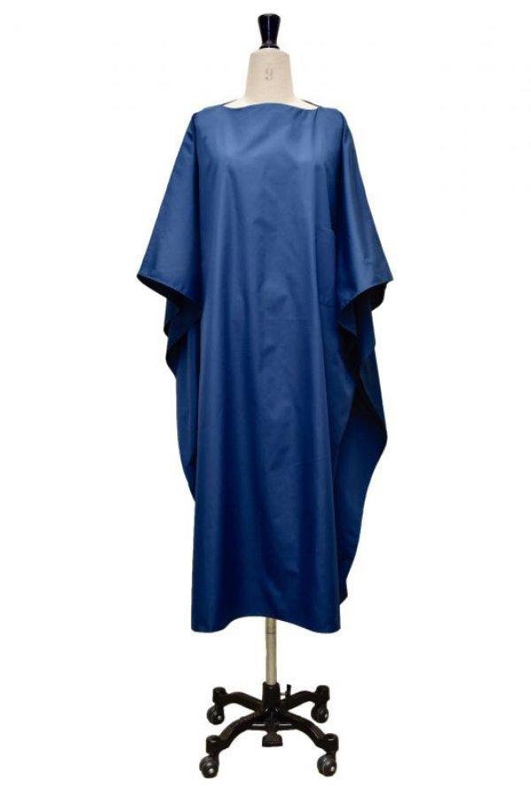 画像1: Cristaseya   LIGHT COTTON OVERSIZED CAFTAN  col.BLUE