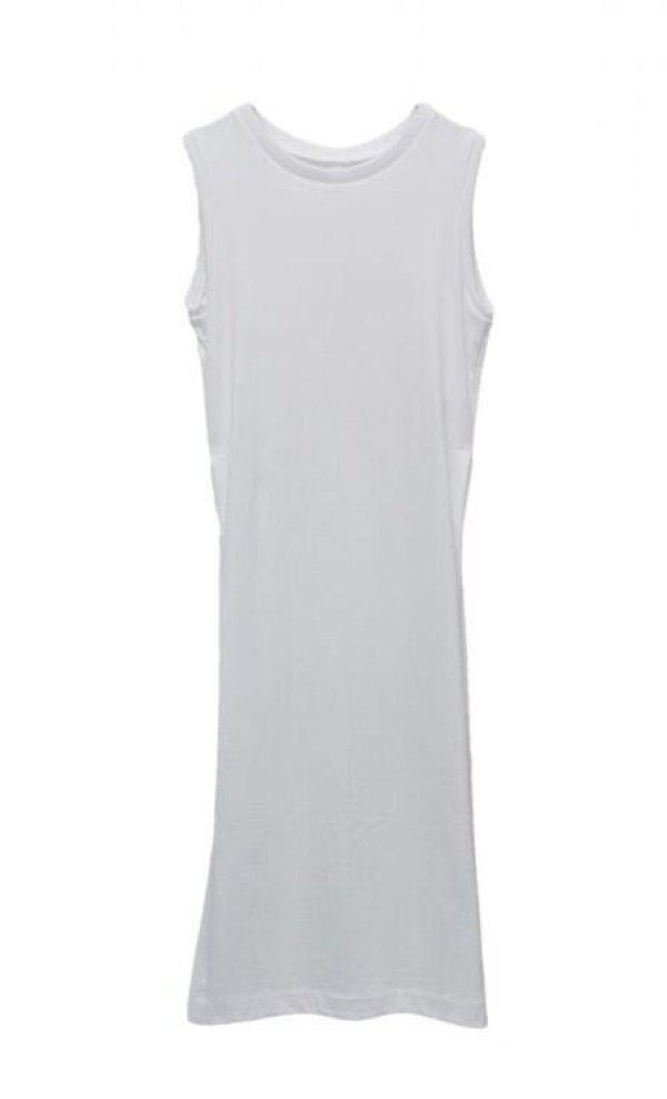 画像1: humoresque   long slit dress  col.white
