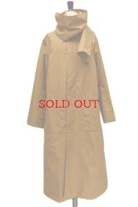 Cristaseya  #01EN-S Maxi overcoat with scarf  col.caramel