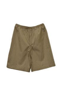 Cristaseya  #12TW-KS STRIPED COTTON BERMUDA  col. KHAKI STRIPES
