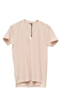 "AURALEE   ""SEAMLESS V-NECK TEE""【A00V06ST】col.LIGHT PINK"