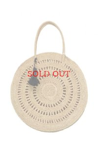 "MAISON N.H PARIS  ""CERCLE MM 37CM RAFFIA""  col.NATURAL"