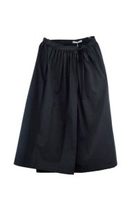 Cristaseya   #09EF-B JAPANESE COTTON PAREO SKIRT  col.BLACK