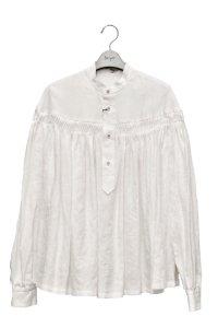 "Scye  ""Linen Pin Tuck Blouse""  リネン高密度タックシャツ  col.オフホワイト   ※ Scye オリジナル ハンガー 付き"