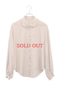 "humoresque  ""frill neck blouse""  col. beige"