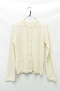 "eleven 2nd  ""Mohair-Front Cardigan"" col. White"